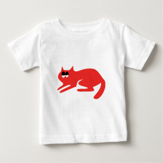 Cat Ready To Pounce Red Hi Eyes Baby T-Shirt