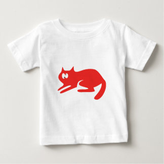Cat Ready To Pounce Red Topsy Turvey Eyes Baby T-Shirt