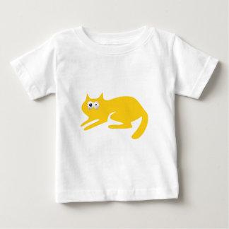 Cat Ready To Pounce Yellow Manic Bloodshot Eyes Baby T-Shirt