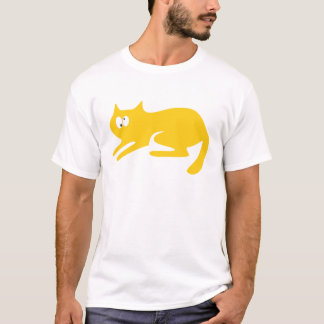 Cat Ready To Pounce Yellow Topsy Turvey Eyes T-Shirt