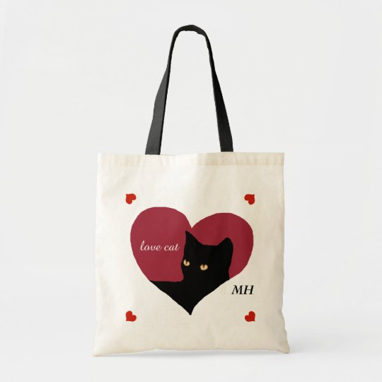 cat red love heart