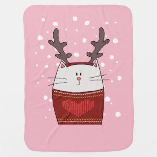 Cat Reindeer Baby Blanket