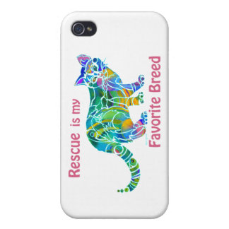 Cat Rescue iPhone Covers and Skins iPhone 4 Cover