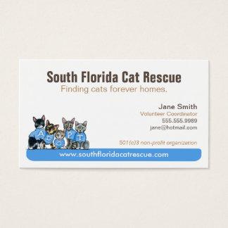 Cat Rescue Non Profit Blue Tagline