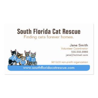Cat Rescue Non Profit Blue Tagline Pack Of Standard Business Cards