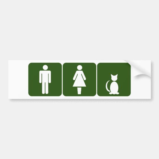 Cat Restroom Bumper Sticker