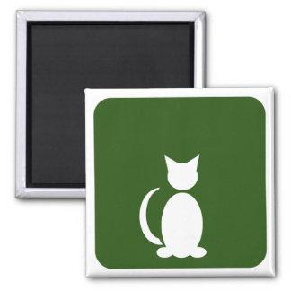 Cat Restroom Square Magnet