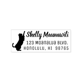 Cat Return Address Stamp Personalized Cat Lover