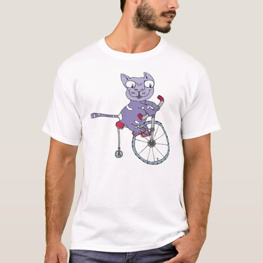 cat ride a bicycle T-Shirt