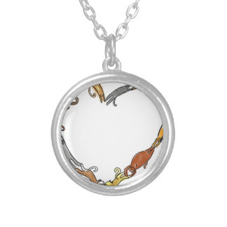 cat ring in love~ round pendant necklace