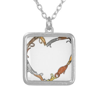 cat ring in love~ square pendant necklace