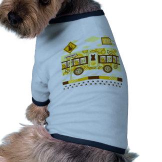 CAT ROAD AND CAT BUS RINGER DOG SHIRT