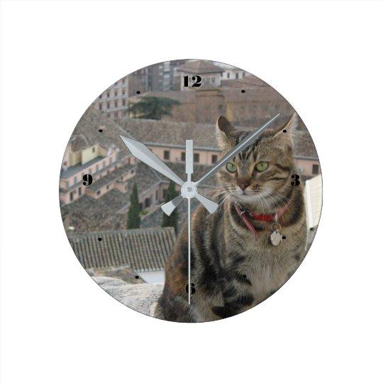 Cat Round (Medium) Wall Clock