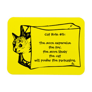 Cat Rules for Toys Cat in a Bag Sticker Rectangular Photo Magnet