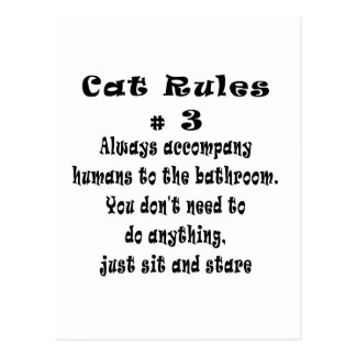 Cat Rules number 3 Postcard
