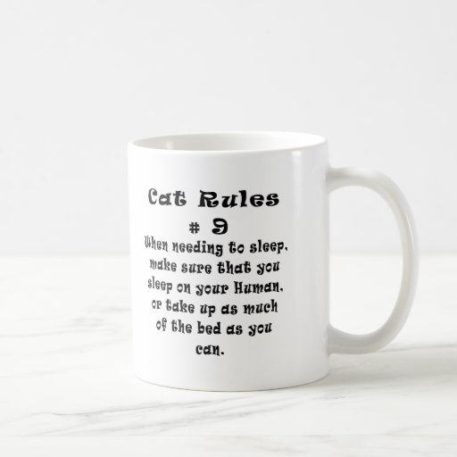 Cat Rules Number 9 Basic White Mug