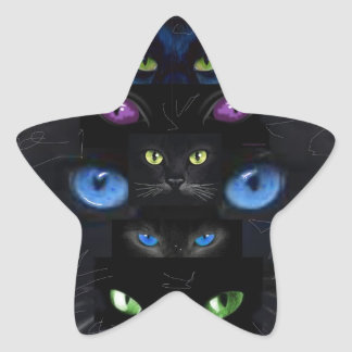 Cat s eyes sticker