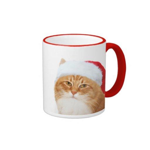 Cat Santa Claus Coffee Mugs