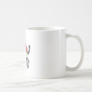 Cat & santa hat mug