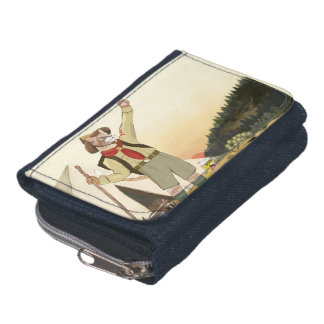 Cat Scout Denim Wallet and Coin Purse