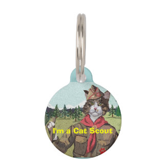Cat Scouts Cat ID Tag Pet Name Tag