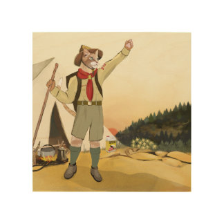"Cat Scouts ""It's a New Morning!"" Birch Wood Print"