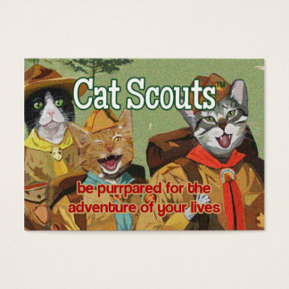 Cat Scouts (TM) membership card