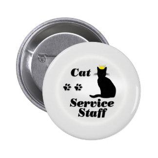 Cat Service Staff 6 Cm Round Badge