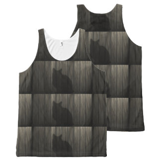 Cat shadow All-Over print tank top