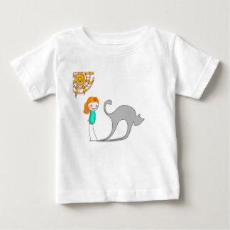 cat shadow baby T-Shirt