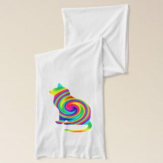 Cat Shaped Rainbow Twirl Scarf