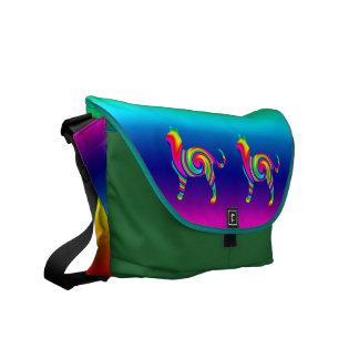 Cat Shaped Rainbow Twist Courier Bag