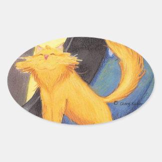 Cat Show Bow / Oval Sticker