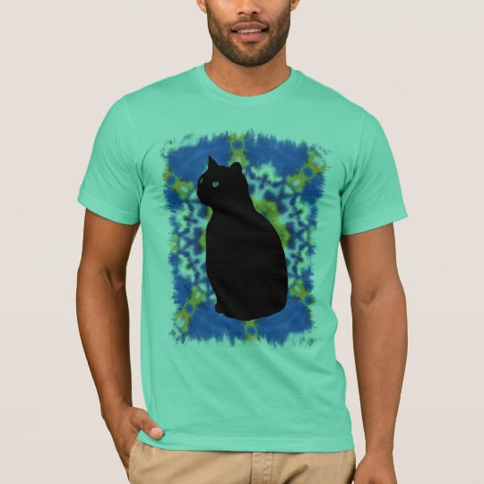 Cat Silhouette and Tie Dye Shirt