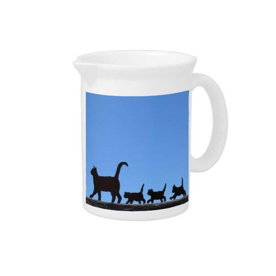Cat Silhouette Pitcher
