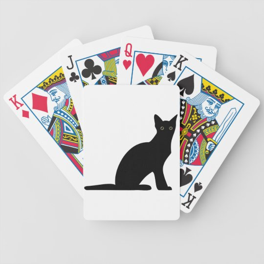 Cat Silhouette Playing Cards