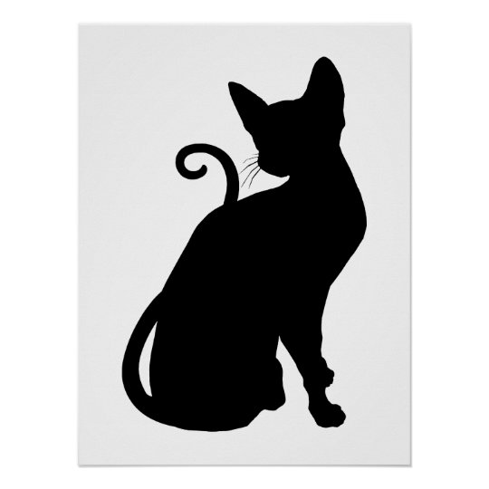 Cat Silhouette Poster