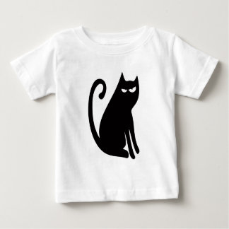 Cat Sit And Look Back Black Dissaproval Eyes Baby T-Shirt