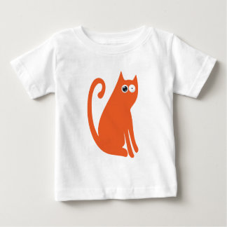 Cat Sit And Look Back Orange Stunned Eyes Baby T-Shirt