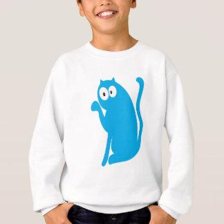 Cat Sit Pointing Blue Hello Eyes Sweatshirt