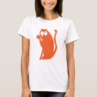 Cat Sit Pointing Orange Topsy Turvey Eyes T-Shirt