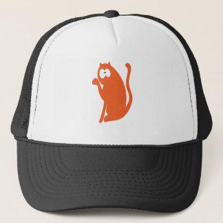 Cat Sit Pointing Orange Wtf Eyes Trucker Hat