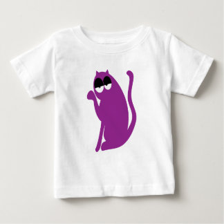Cat Sit Pointing Purple Hi Eyes Baby T-Shirt