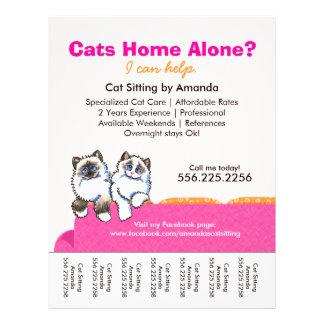 Cat Sitter Ad Ragdoll Pink Couch Tear Sheet 21.5 Cm X 28 Cm Flyer