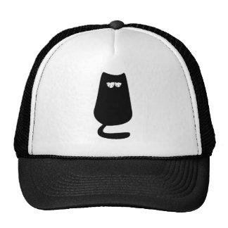 Cat Sitting Black So Tired Eyes Cap