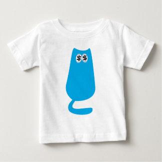 Cat Sitting Blue Cash Eyes Blue Baby T-Shirt