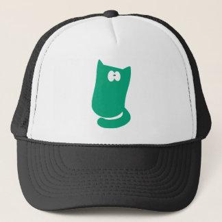 Cat Sitting Bundle Green Wtf Eyes Trucker Hat