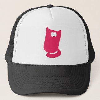 Cat Sitting Bundle Pink Wtf Eyes Trucker Hat