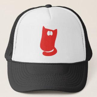 Cat Sitting Bundle Red Wtf Eyes Trucker Hat