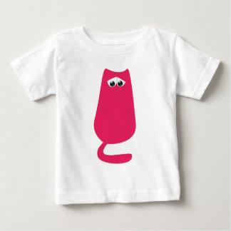 Cat Sitting Pink Sad Eyes Baby T-Shirt